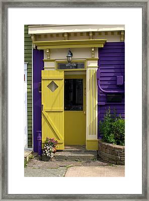 Yellow Door Framed Print by Douglas Pike