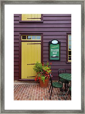 Yellow Door In Annapolis Framed Print