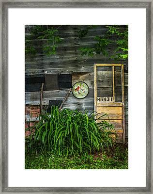 Yellow Door Framed Print by Kathleen Scanlan