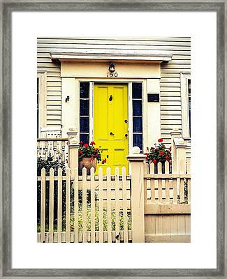 Framed Print featuring the photograph Yellow Door by Kendall McKernon