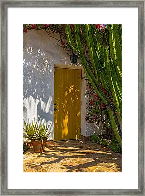 Yellow Door Framed Print by Thomas Hall