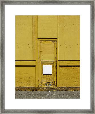 Yellow Door With Accent Framed Print