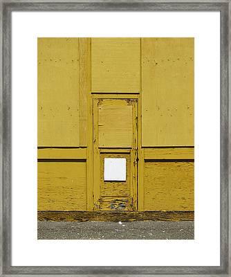 Yellow Door With Accent Framed Print by Ben Freeman