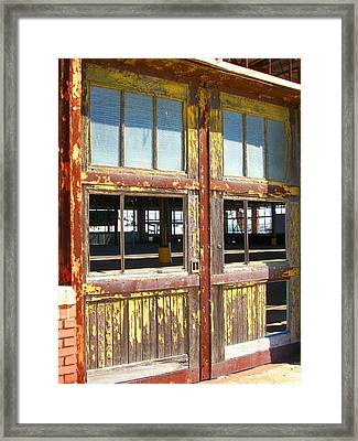 Yellow Doors Of The Past Framed Print by Edmund Akers