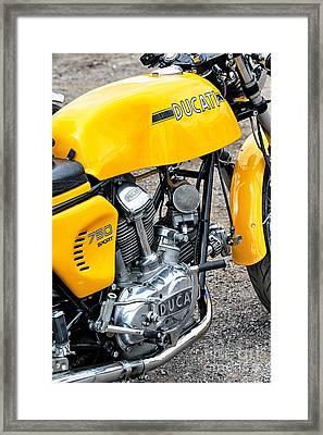 Yellow Ducati Framed Print