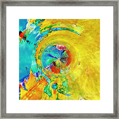 Yellow Eclipse  Framed Print