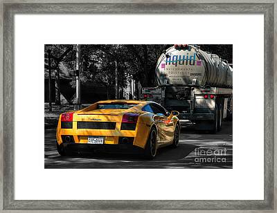 Yellow Environment Framed Print by Norman Gabitzsch