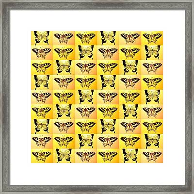 Yellow Fantasy Framed Print by Cathy Jacobs