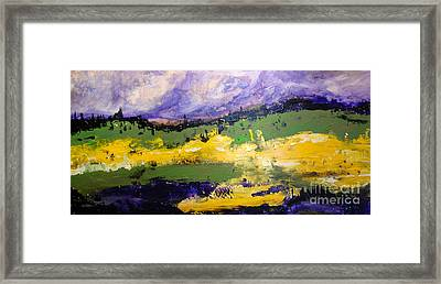 Yellow Fields Framed Print by Maria Curcic