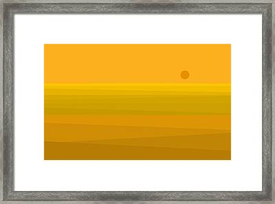 Yellow Fields Of Corn Framed Print by Val Arie