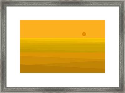 Yellow Fields Of Corn Framed Print
