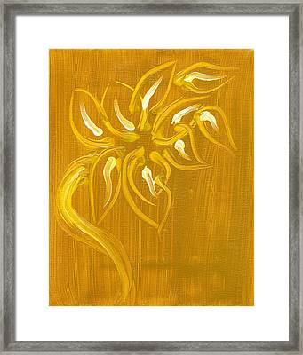 Yellow Flower 1 Framed Print by Melissa Moore