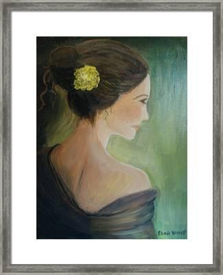 Yellow Flower Framed Print by Glenda Barrett