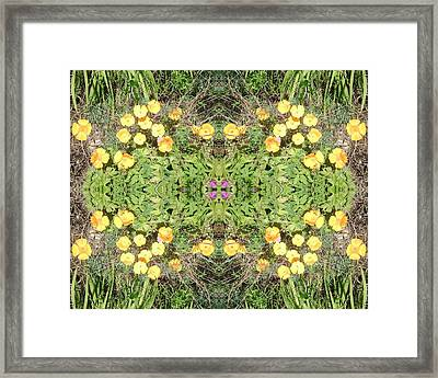 Framed Print featuring the photograph Yellow Flower Photo 1492 Composite by Julia Woodman