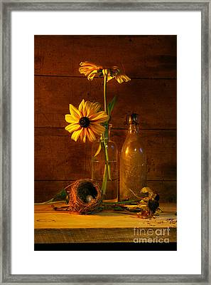 Yellow Flower Still Life Framed Print