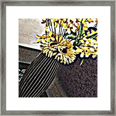 Yellow Flower Art  Framed Print