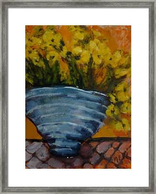 Yellow Flowers Framed Print by Juliet Mevi