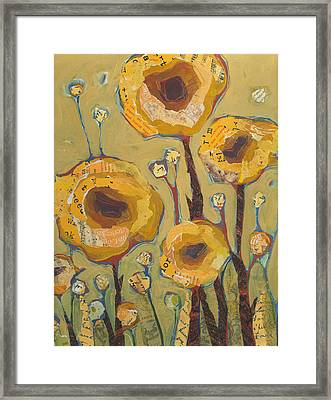 Yellow Flowers No3 Framed Print