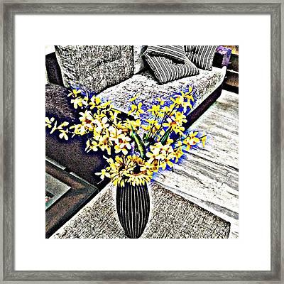 Yellow Flowers Art 3  Framed Print