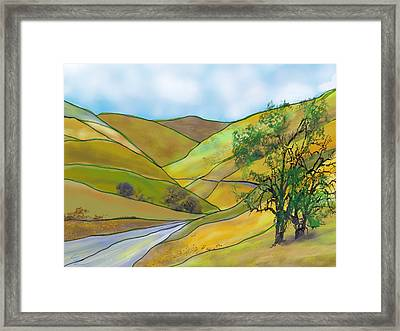 Yellow Foothills Framed Print