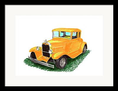 Cadillac And Mercedes Benz Framed Prints