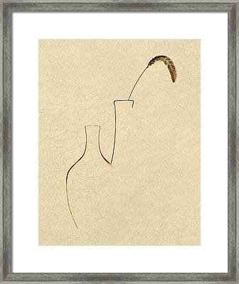 Yellow Foxtail With Vases Framed Print by Tom Mc Nemar