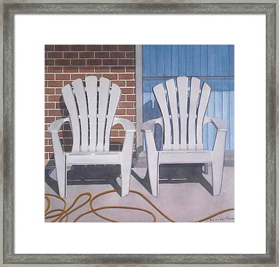 Yellow Garden Hose Framed Print by Cory Clifford