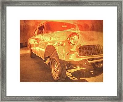 Yellow Gasser Framed Print by David King
