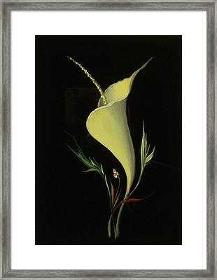 Yellow Glass Framed Print by Venyamin Astashov