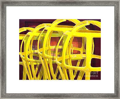 Yellow Guard Framed Print by Ron Bissett