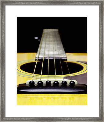 Yellow Guitar 17 Framed Print