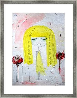 Yellow Hair Girl  Framed Print