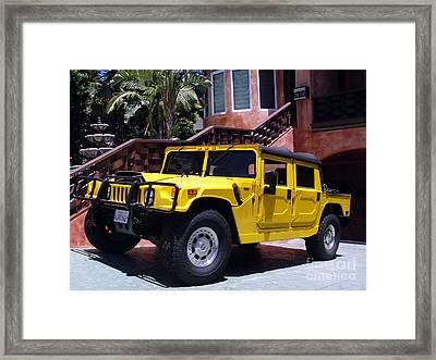 Yellow Hammer Car Framed Print