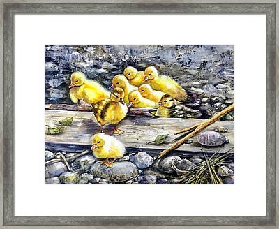 Yellow Happiness Framed Print