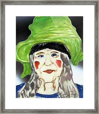 Yellow Hat Framed Print