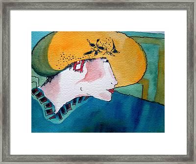 Yellow Hat Framed Print by Jane Ferguson