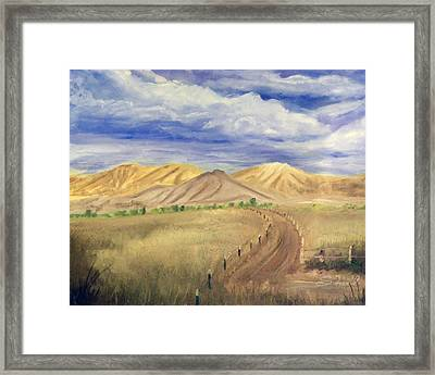Yellow Hills Of Jensen Framed Print