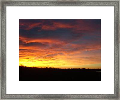 Yellow Horizon Framed Print