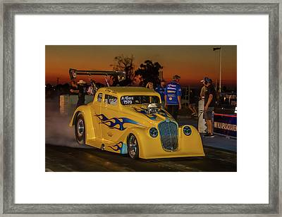Yellow Hot Rod Framed Print by Bill Gallagher