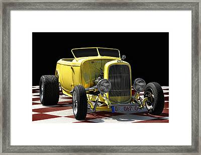Yellow Hot Rod Framed Print