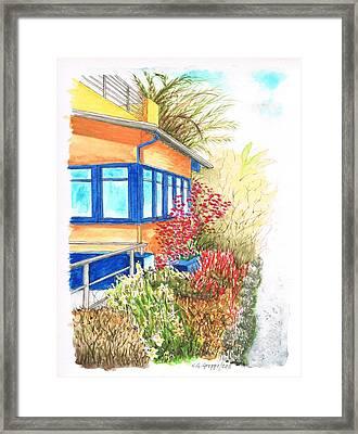 Yellow House In Venice Beach - California Framed Print by Carlos G Groppa
