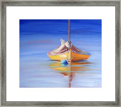 Yellow Hull Sailboat Iv Framed Print