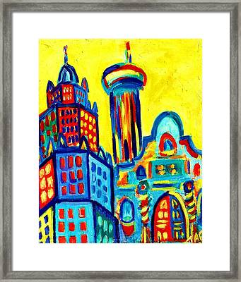 Yellow Icons Framed Print by Tracey Ashenfelter