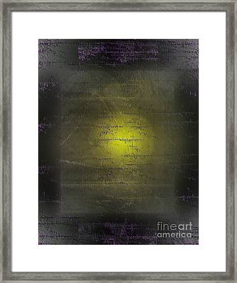 Yellow In Distress Framed Print