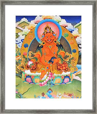 Yellow Jambhala 21 Framed Print by Lanjee Chee
