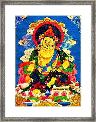 Yellow Jambhala 4 Framed Print by Lanjee Chee
