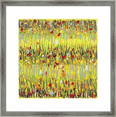 Yellow Jazz Framed Print