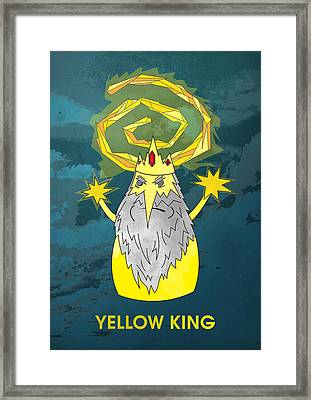 Yellow King True Detective Adventure Time Framed Print