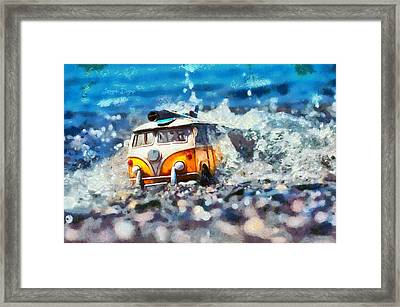 Yellow Kombi Framed Print by Leonardo Digenio