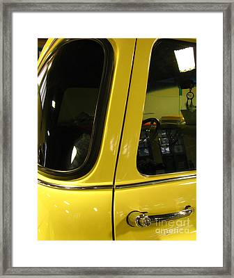 Yellow Lady Abstract Framed Print by Peter Piatt